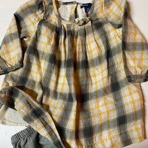 GAP 6-12M Dress, panties. Long sleeved  plaid